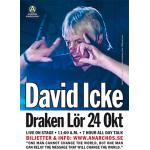A3-affisch –David Icke på Draken i Götebor…
