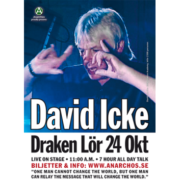 A4-affisch –David Icke på Draken i Göteborg 2009
