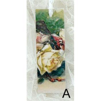 Bokmärke –A. Vit ros